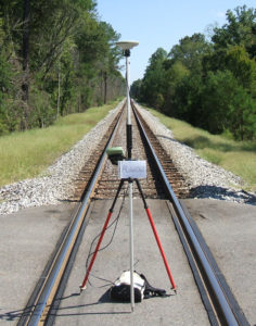 GPS on Railroad Track